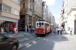 Old tram on the move