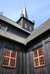 Stave church at Lom